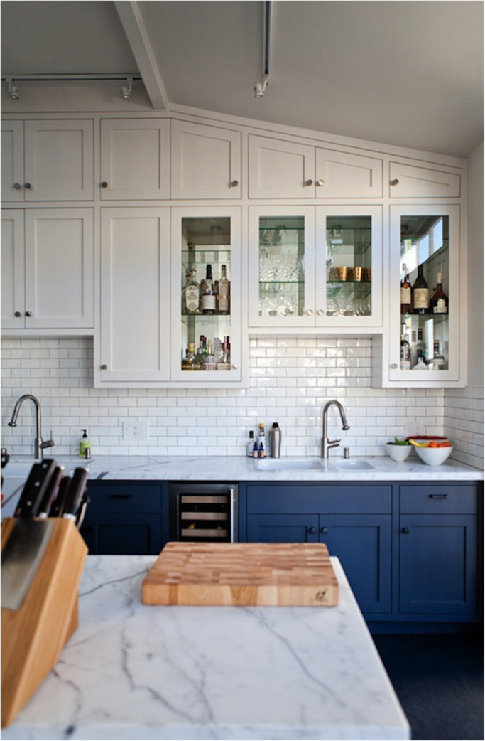 get the look blue and white kitchens tile mountain