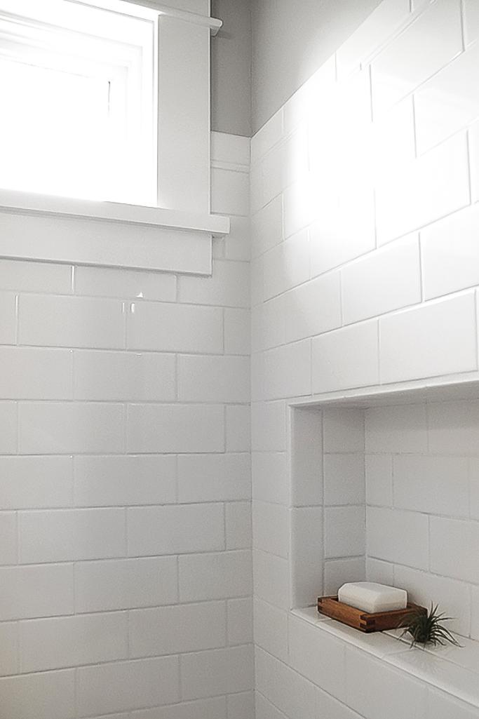 How To Create An All White Bathroom Tile Mountain