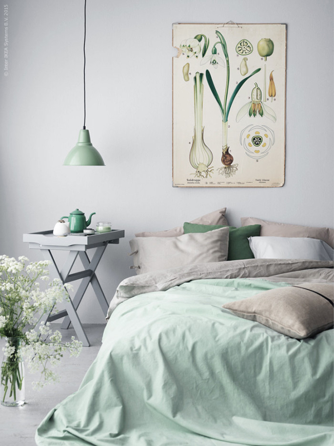 Refresh your home with spring colours tile mountain - Green bedroom ...