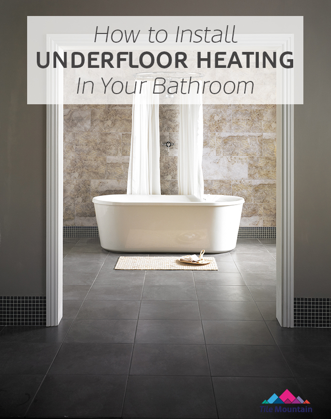 How to lay and install underfloor heating mats tile mountain for Heating a bathroom