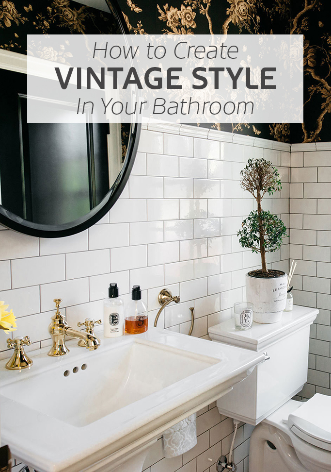 How to create a vintage style bathroom tile mountain for How to make vintage bathroom designs for your homes