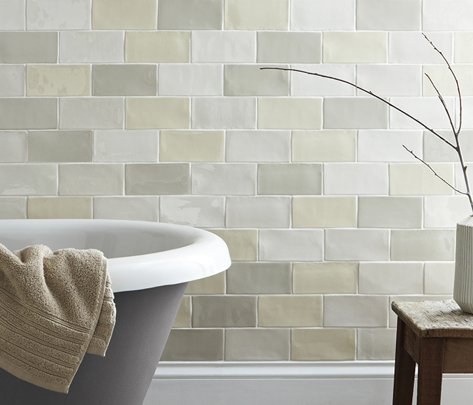 How to use colourful tiles in your bathroom tile mountain for Trendy bathroom colours 2016