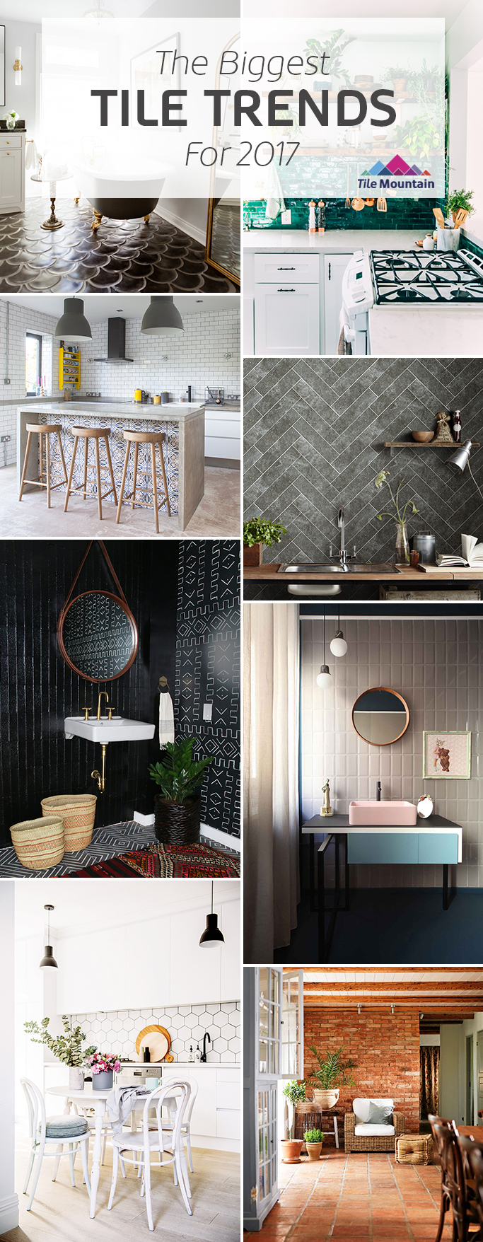 2017 tile trends the experts predict what 39 s next tile for Bathroom tile trends 2016 uk