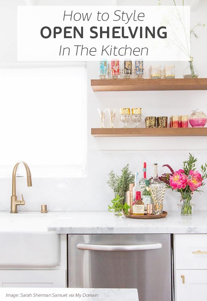 Kitchen design 2016 trends - Inspiration For Styling Open Kitchen Shelves Tile Mountain