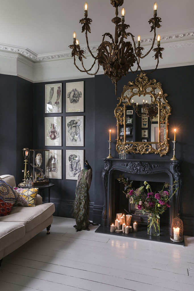 romantic gothic living room - Tile Mountain