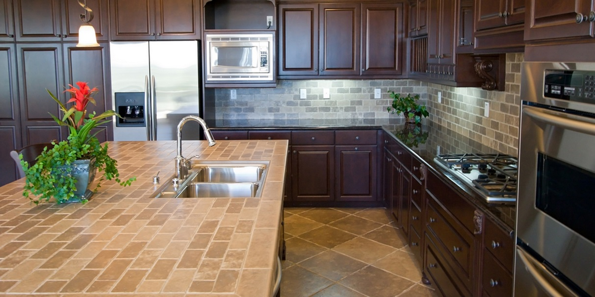 Kitchen Design With Granite And Tile