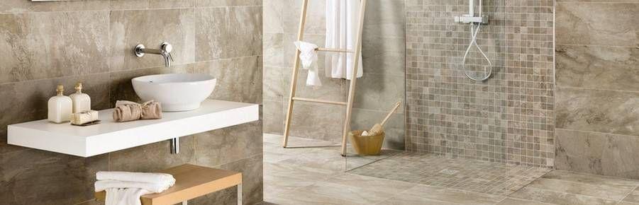 Beige Bathroom Floor Tiles