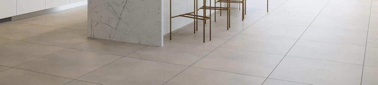 Beige Kitchen Floor Tiles