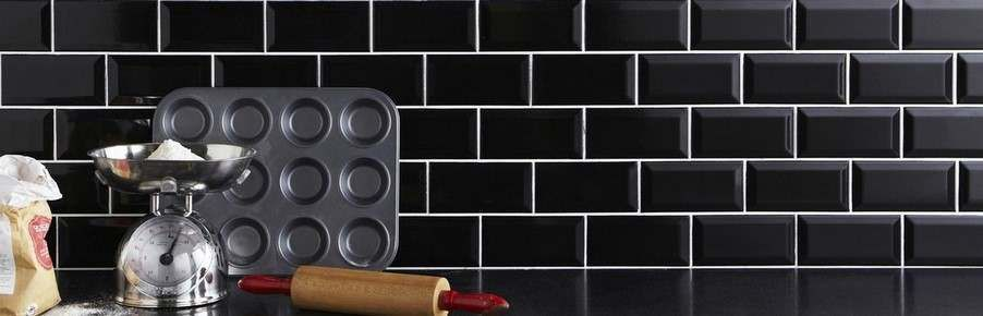 Black Kitchen Wall Tiles