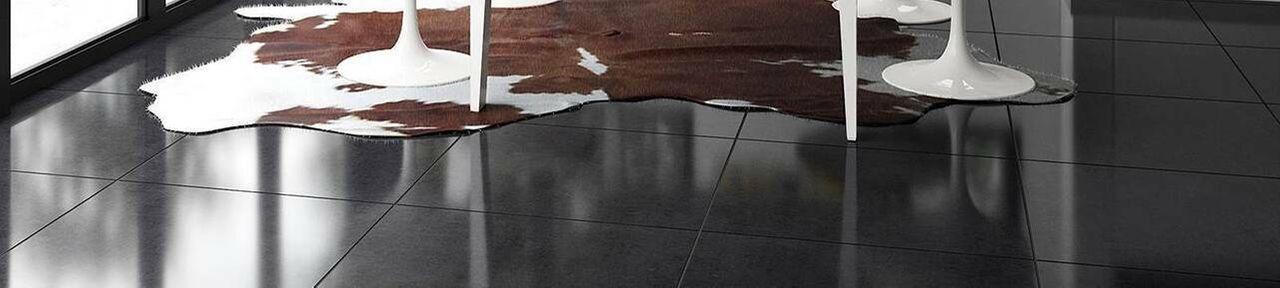 Black Floor Tiles 600x600