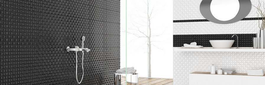 Black Bathroom Wall Tiles