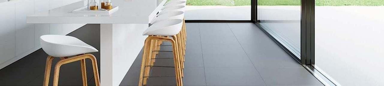 Matt Black Floor Tiles