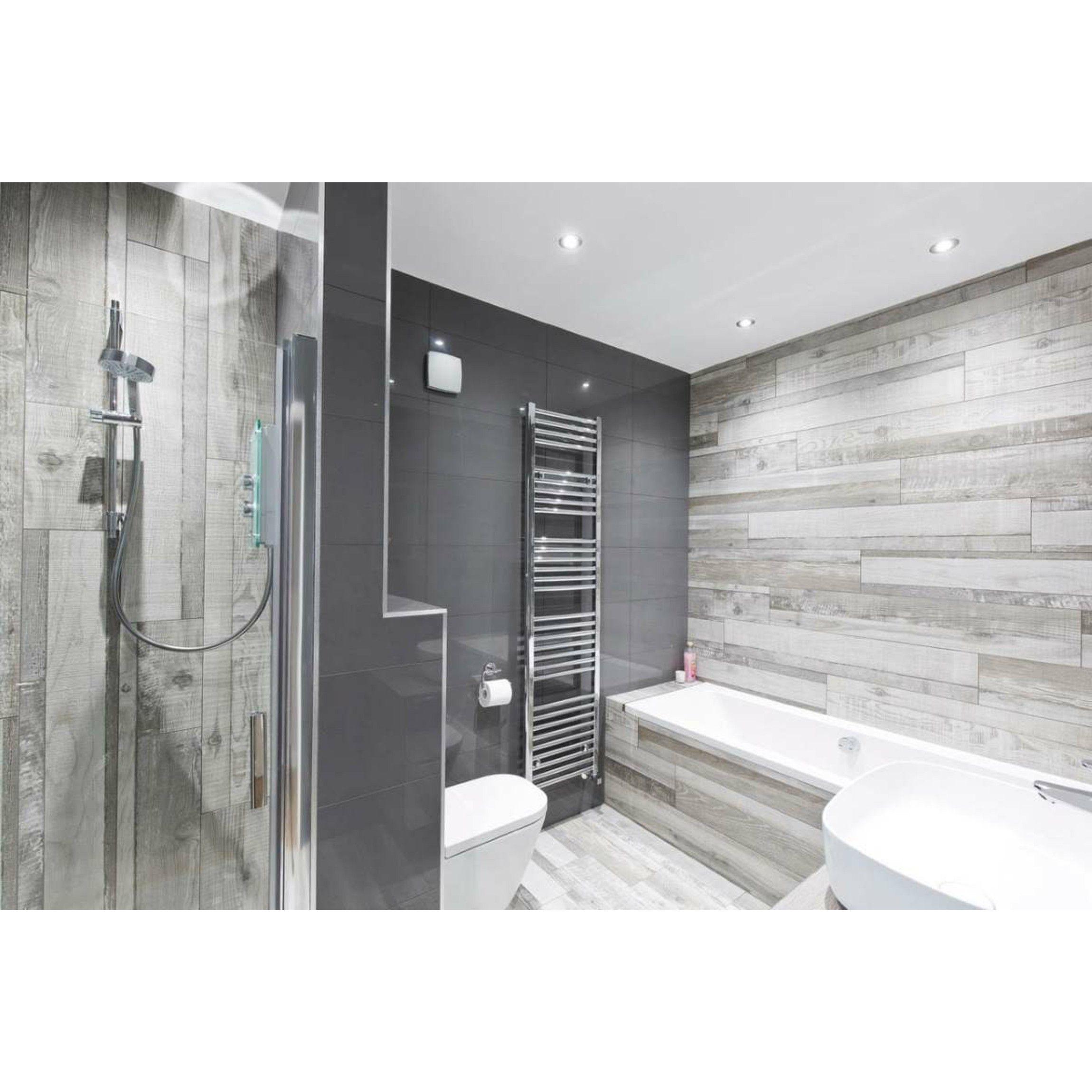 Kauri Rustic Natural Wood Effect Floor, Grey Wood Tile Bathroom