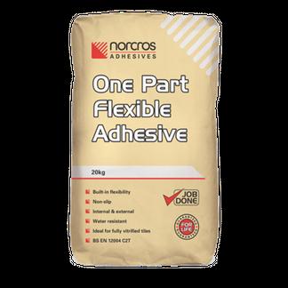 Norcros One Part Flexible White Tile Adhesive 20Kg