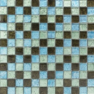 Hong Kong Blue Mix Glass Mosaic 23x23