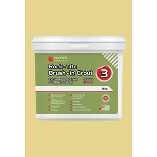 Norcros Rock-Tite Brush in Grout 15kg - Blanched Almond