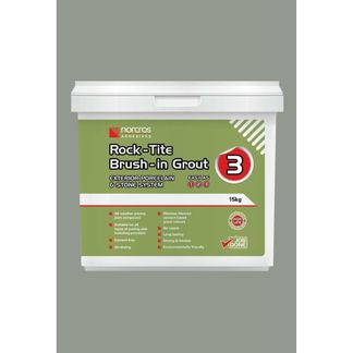 Norcros Rock-Tite Brush in Grout 15kg - Steel Grey