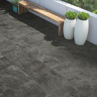 Ardosia Black Anti-Slip Porcelain Floor Tiles