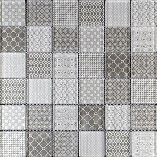Bayeux Grey Glass Mosaic