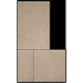 Bowers Rock Taupe Matt Porcelain Modular Tiles