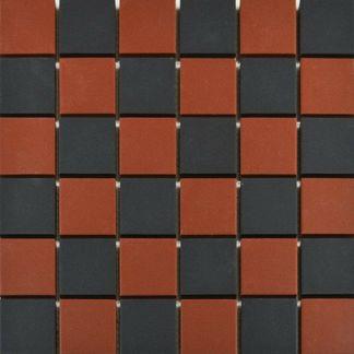 Victoria Red & Black Chequer Mosaic