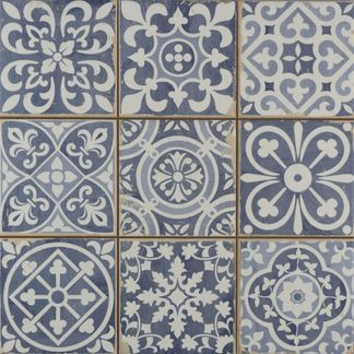 Faenza Rustic Blue Patterned Matt Tiles