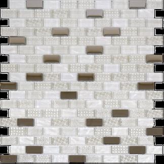 Georgia Oyster Pearl Glass Mosaic