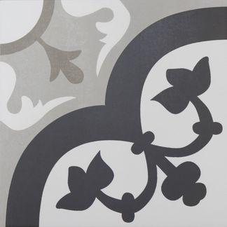 Hanoi Flower Grey Floor Tiles