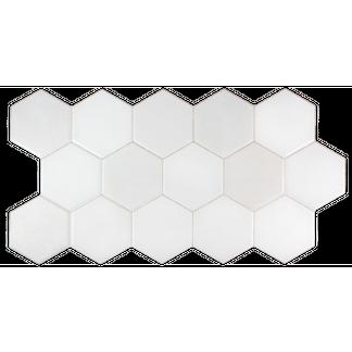 Hexagon Lustre White Wall And Floor Tiles