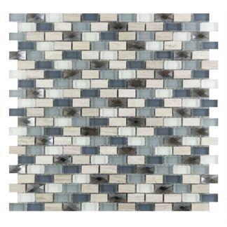 Italia Gris Stoneglass Brick Mosaic