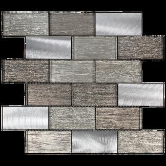 Metallic Copper Bronze Glass Mosaic