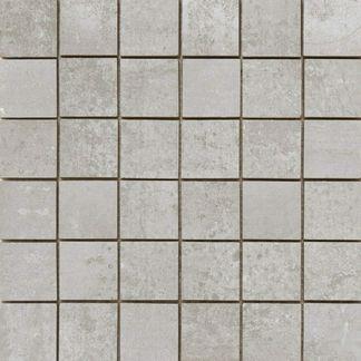 Metal Silver Rect Porcelain Mosaic