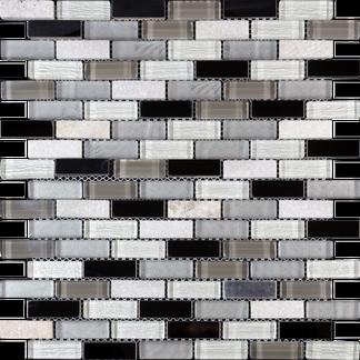 Mountain Atlas White Glass Mosaic 300x300