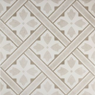 Mr Jones Cream Pattern Wall and Floor Tile