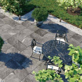 Enstone Grey Outdoor Slab Tiles