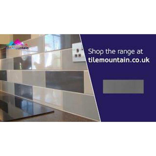 Linear Dark Grey Gloss Wall Tiles