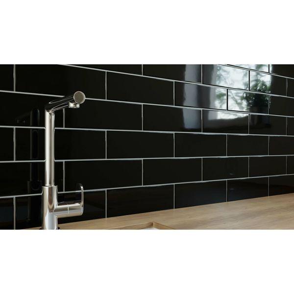Linear Black Gloss Wall Tiles