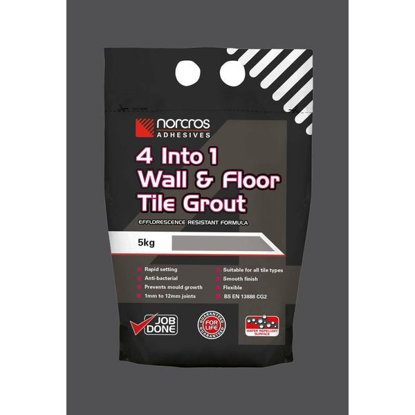 4 Into 1 Wall & Floor Tile Grout - Midnight Coal -5Kg