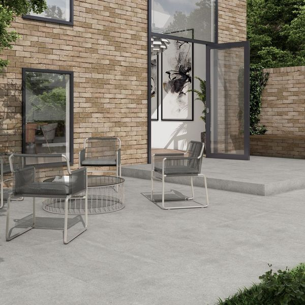 Rocastone Grey Outdoor Slab Tile