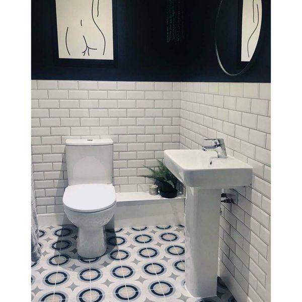Swing Decor Blue Geometric Wall and Floor Tiles