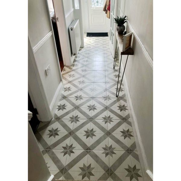 Southampton Pattern Porcelain Floor Tiles