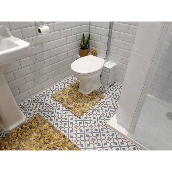 Brighton Blue Pattern Porcelain Floor Tiles