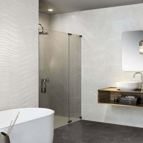 Davenport Light Grey Matt Marble Effect Wave Feature Wall Tile