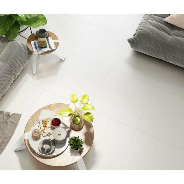 Blanco Rectified Matt Porcelain Floor Tile