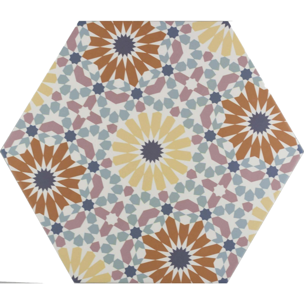 Andalucia Hexagon Patterned Porcelain Wall And Floor Tiles