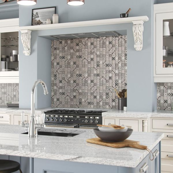 Arabesco Grey Glass Mosaic