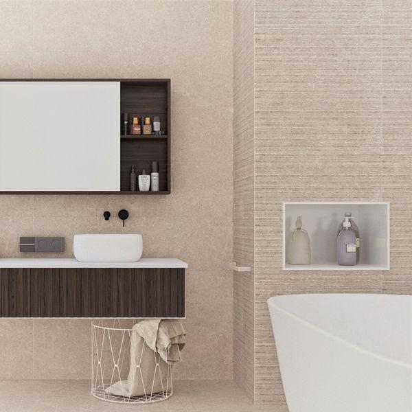 Arkesia Cream Split Face Effect Wall Tile