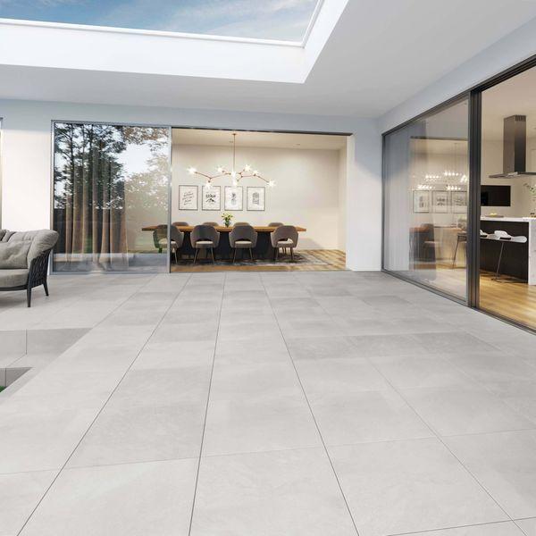 Axis White Outdoor Slab Tiles