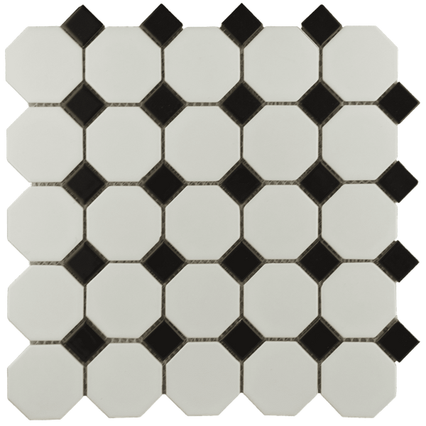 Bally Octagon Black White Mosaic