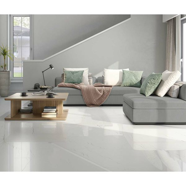 Barbados White Marble Effect Wall and Floor Tile